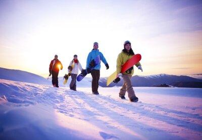 Poster Persone nel loro Boarding Way To Neve
