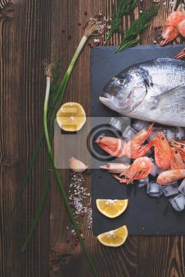 Poster pesce di mare fresco