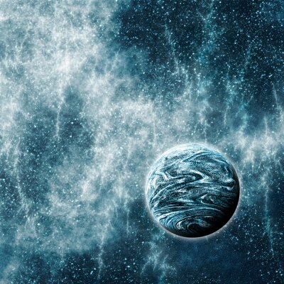 Poster Pianeta extrasolare in Space Time Warped Regione