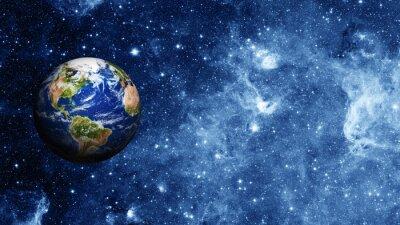 Poster pianeta Terra nello spazio
