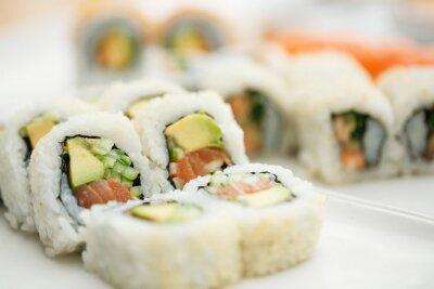 Poster piatto sushi con le bacchette