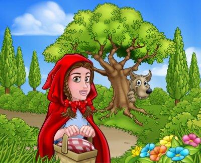 Poster Piccolo Cappuccetto Rosso e Scena del Lupo