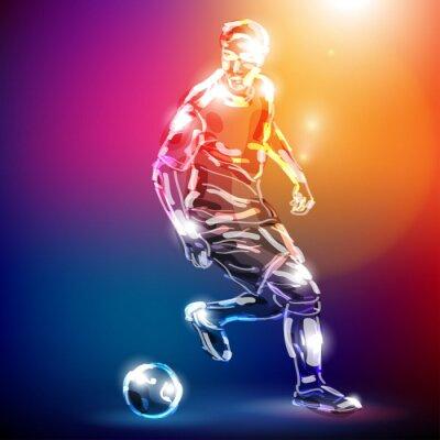 Poster piłka nożna WEKTOR
