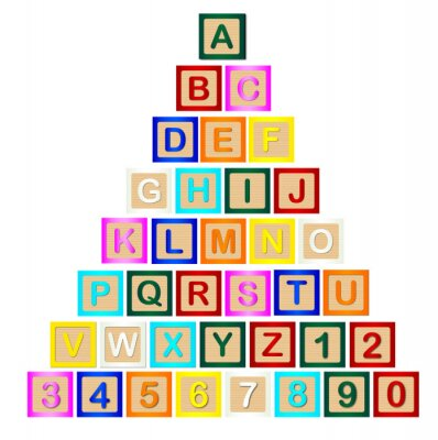 Poster Piramide Lettera Block
