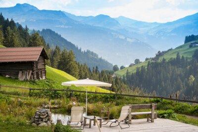 Poster Pittoresca Point rilassante per rilassarsi nel Alpi