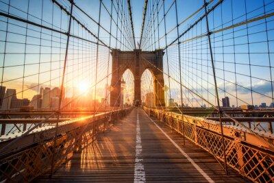 Poster Ponte di Brooklyn a New York City