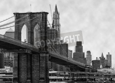 Poster Ponte di Brooklyn New York e East River