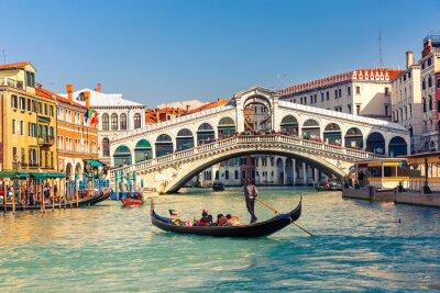 Poster Ponte di Rialto a Venezia