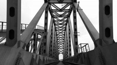 Poster ponte ferroviario in acciaio