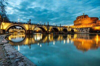 Poster Ponte S.Angelo e il castello, Roma, Italia