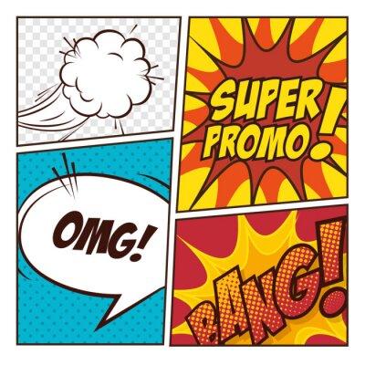 Poster Pop Comic Art bolle disegno