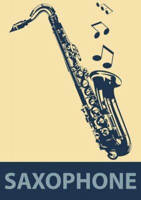 Poster Pop Sassofono