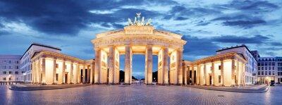 Poster Porta di Brandeburgo, a Berlino, Germania - Panorama