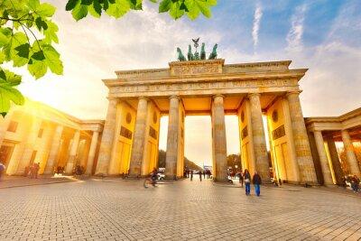 Poster Porta di Brandeburgo al tramonto