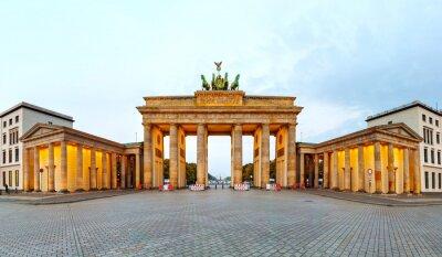Poster Porta di Brandeburgo Panorama a Berlino, Germania