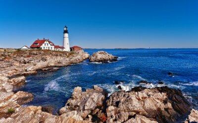 Poster Portland Head Lighthouse a Cape Elizabeth, Maine
