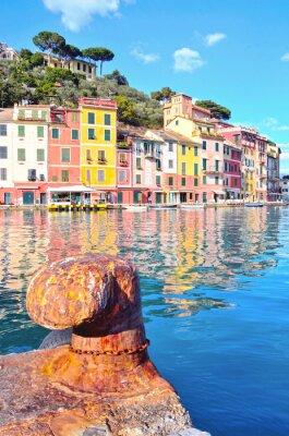 Poster Portofino, Italia (immagine HDR)