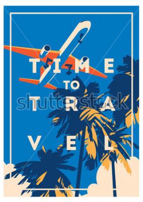 Poster Poster Tempo di viaggio e vacanze estive.