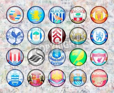 Poster Premier League inglese di calcio Squadre 2012/13