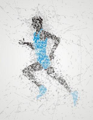 Poster progettazione atleta