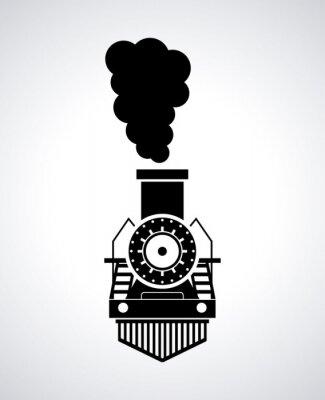 Poster progettazione del treno
