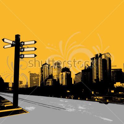 Poster progettazione grafica urbana moderna del grunge