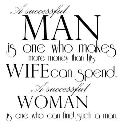 Poster Quota A proposito di successo design Man Testo