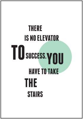 Poster Quota tipografia per Inspirational