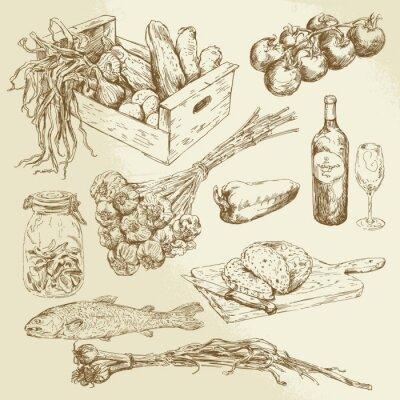Poster raccolta di cibo