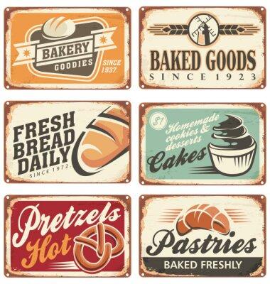 Poster Raccolta di vintage vector segni da forno