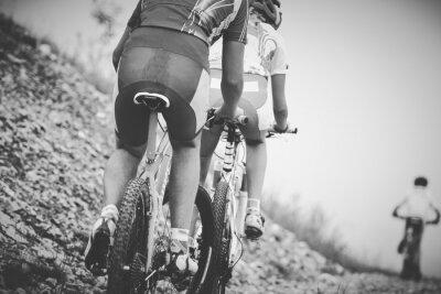 Poster ragazzo ciclista Gara di mountain bike
