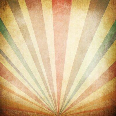 Poster Raggi di sole Vintage Background
