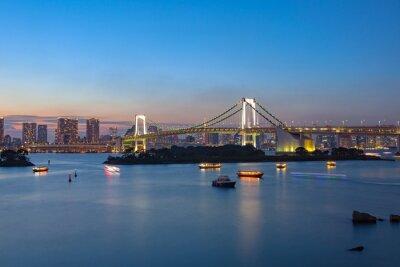 Poster Rainbow Bridge Odaiba Tokyo in Giappone destinazione importante visitare
