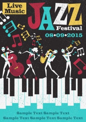 Poster Retro Abstract Jazz Festival Poster