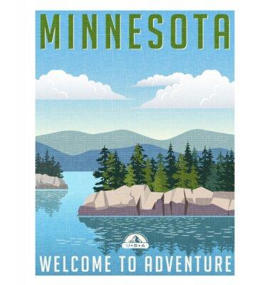 Poster Retro manifesto viaggio stile o adesivo.