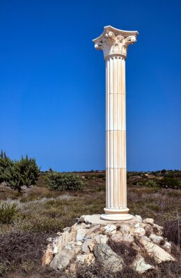 Poster Ricostruzione delle colonne corinzie sull'isola di Kos, in Grecia.