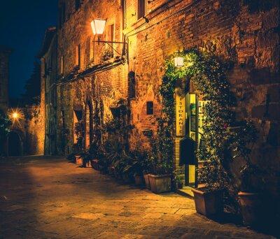 Poster ristorante toscano a Pienza