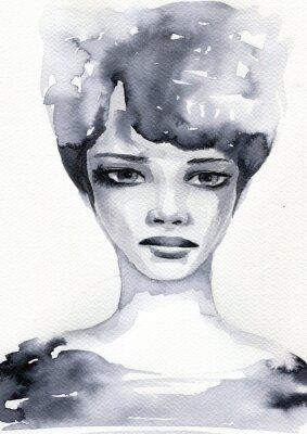 Poster ritratto akwarelowy kobiety