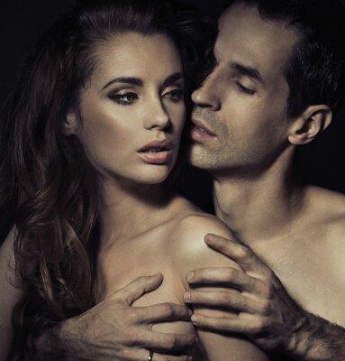 Poster Ritratto di una sensuale giovane coppia
