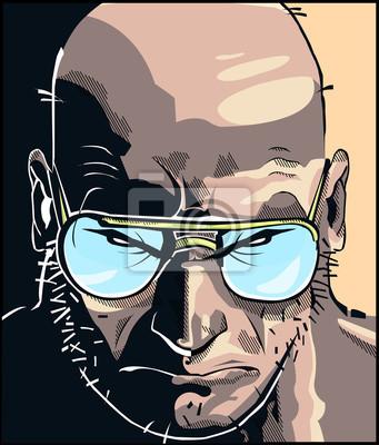 Poster Rostro fumetto