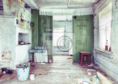 Case Di Campagna Interni : Rovinosa casa di campagna interni manifesti da muro u2022 poster interni