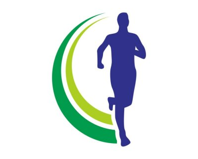 Poster run salute logo