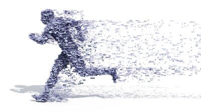Poster Running Man da blocchi