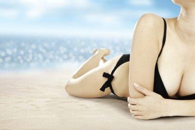 Poster sabbia e donna