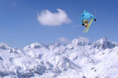 Poster Saltando sciatore
