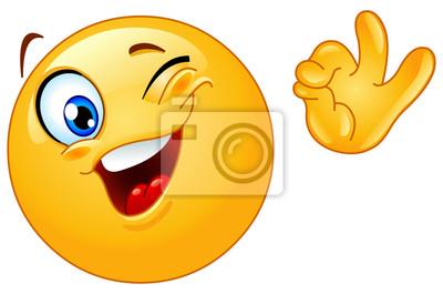Sbattere le palpebre emoticon manifesti da muro • poster smilies ... f63e3be9bf21