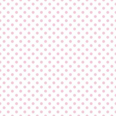 Schema Di Posa Vettoriale Con Pois Rosa Su Sfondo Bianco Manifesti