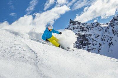 Poster Sci Sciatore alpino in alta montagna