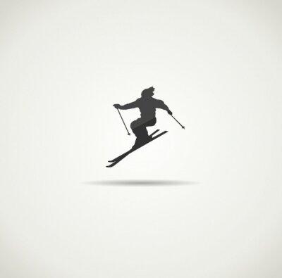 Poster sciatore