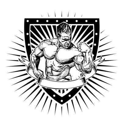 Poster scudo bodybuilding